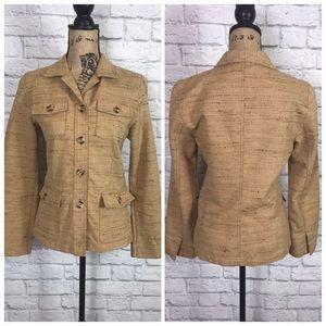 CAbi Jacket Size 4 Style #958 Nubby Camel USA